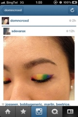 Quickie Post: EOTD for Lady Gaga Concert – Rainbow Eyes