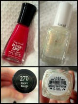 Quickie Post: Bright Red Toenails with a Twist