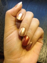 Mim's Mini Manicures: Covergirl Outlast Stay Brilliant Nail Color in Perfect Penny & Picture Polish in Goddess