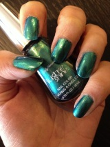 Mim's Mini Manicures: Sally Hansen Lustre Shine Nail Polish in Scarab