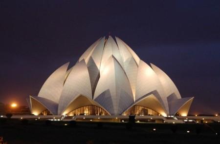 The Lotus Temple, New Delhi, India  Photo courtesy of delhitravel.org
